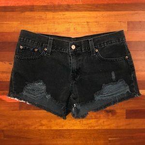 Levi's Vintage Look Distressed Shorts SZ 28 VGUC